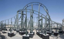 Primul rollercoaster instalat la Legoland Dubai 1