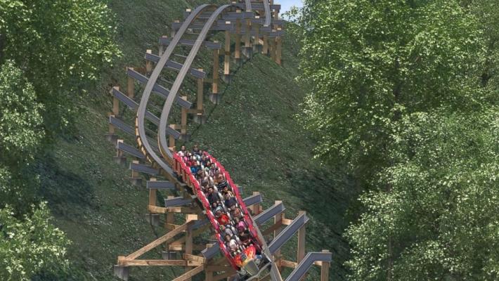 Cel mai rapid roller-coaster de lemn din lume 1