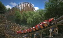 Cel mai rapid roller-coaster de lemn din lume 2