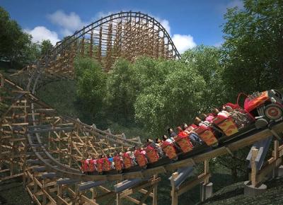 Cel mai rapid roller-coaster de lemn din lume