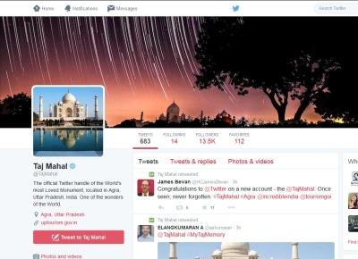 Taj Mahal - primul monument istoric cu un cont de Twitter din India