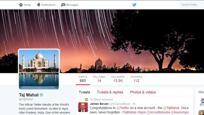 Taj Mahal - primul monument istoric cu un cont de Twitter din India 2